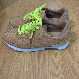 Cork and gold fashion sneakers